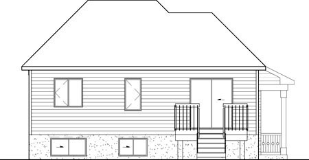 Victorian House Plan 49508 Rear Elevation