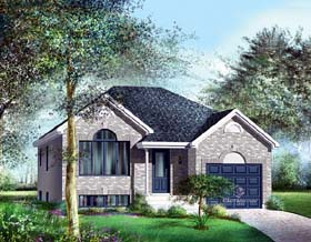European House Plan 49510 Elevation