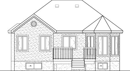 European House Plan 49510 Rear Elevation