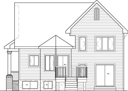 Tudor Rear Elevation of Plan 49516