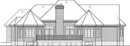 Victorian House Plan 49521 Rear Elevation