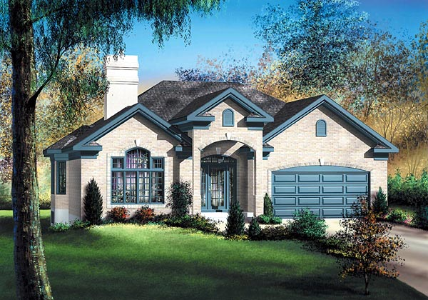 European House Plan 49523 Elevation