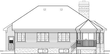 European House Plan 49523 Rear Elevation