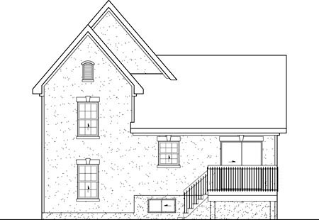 Victorian House Plan 49526 Rear Elevation