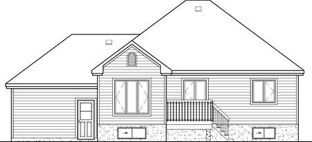 European House Plan 49529 Rear Elevation