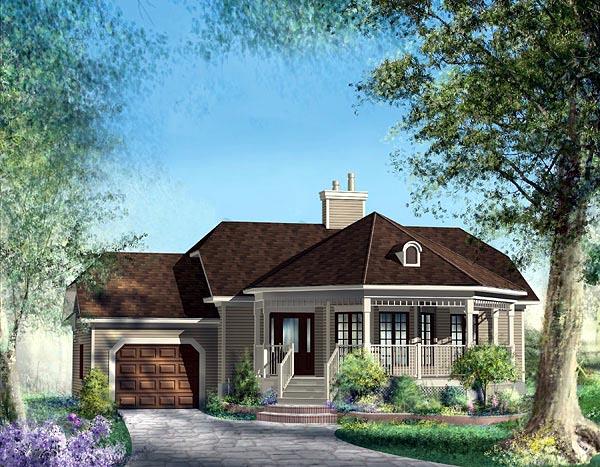 European House Plan 49531 Elevation