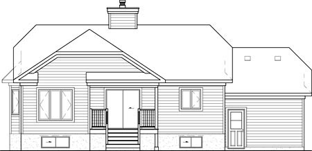 European House Plan 49531 Rear Elevation
