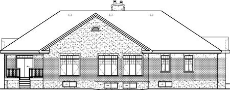 Colonial House Plan 49532 Rear Elevation