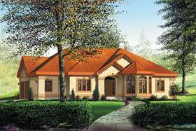 House Plan 49535 | Mediterranean Style Plan with 2001 Sq Ft, 3 Bedrooms, 2 Bathrooms, 3 Car Garage Elevation