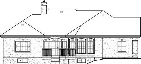 Mediterranean House Plan 49535 Rear Elevation