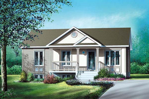 Traditional House Plan 49536 Elevation