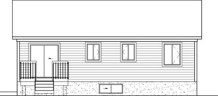 Traditional House Plan 49536 Rear Elevation