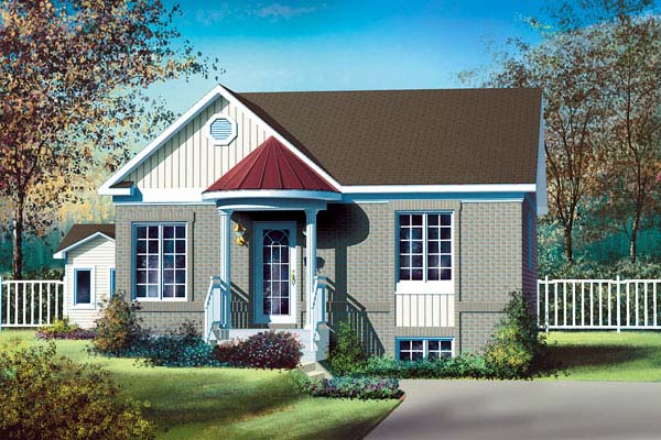 Colonial House Plan 49537 Elevation