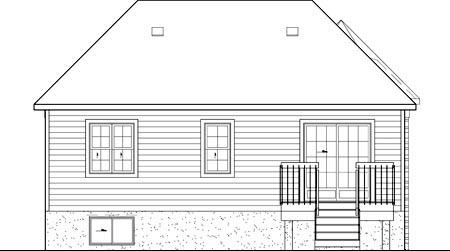 Victorian House Plan 49541 Rear Elevation