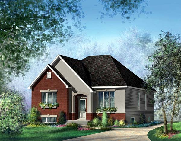 European House Plan 49542 Elevation