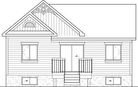 House Plan 49544 Rear Elevation