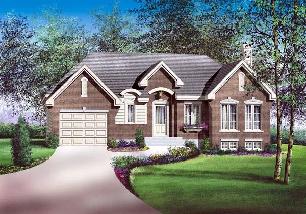 Tudor House Plan 49545 Elevation