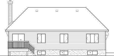 Tudor House Plan 49545 Rear Elevation