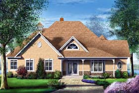 European House Plan 49547 Elevation