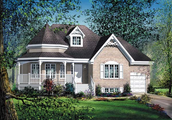 Victorian House Plan 49548 Elevation