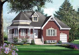 Victorian House Plan 49549 Elevation