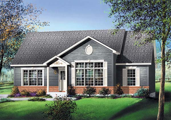 Colonial House Plan 49550 Elevation