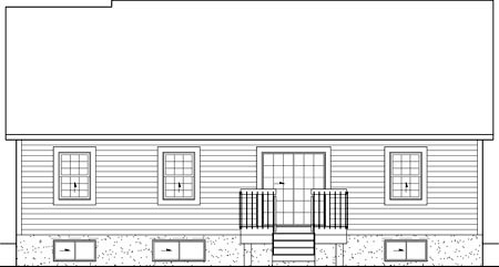 Colonial House Plan 49550 Rear Elevation