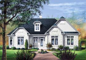 European House Plan 49551 Elevation