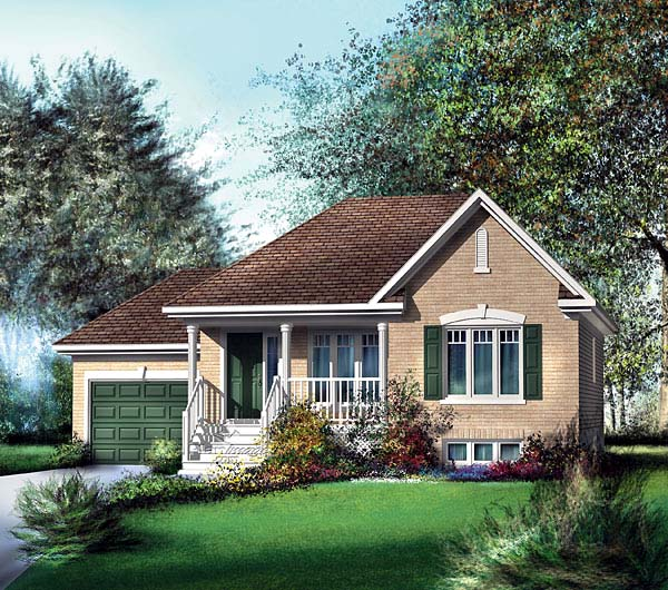 House Plan 49552 Elevation