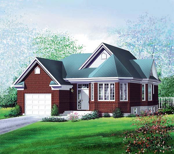 European House Plan 49555 Elevation