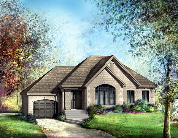 European House Plan 49556 Elevation