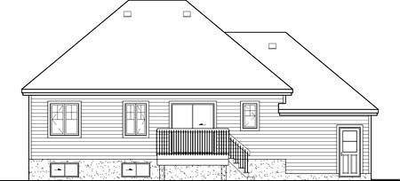 European House Plan 49556 Rear Elevation