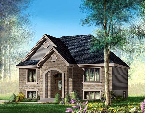 European House Plan 49559 Elevation