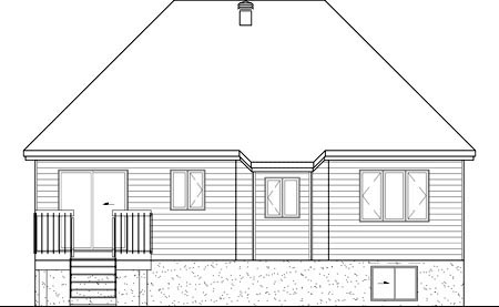European House Plan 49559 Rear Elevation