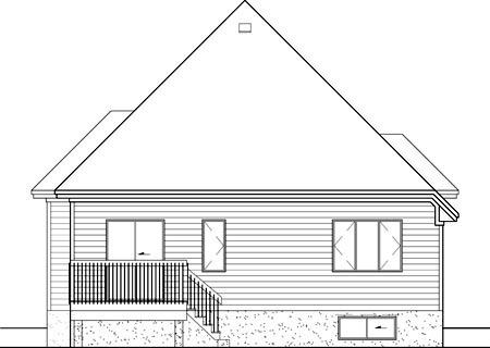 European House Plan 49560 Rear Elevation