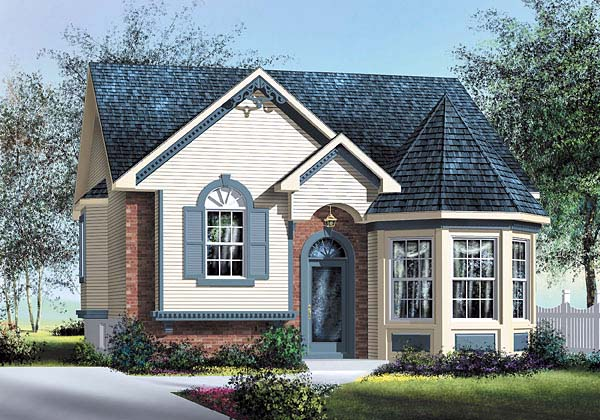 Victorian House Plan 49563 Elevation