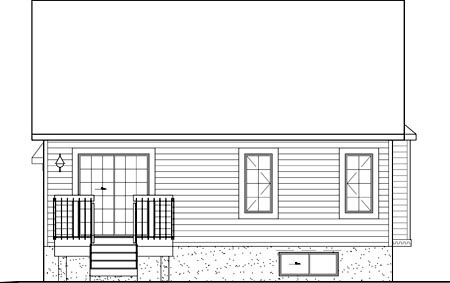 Victorian House Plan 49563 Rear Elevation