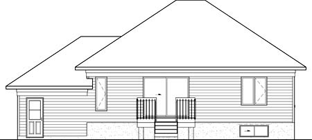House Plan 49565 Rear Elevation