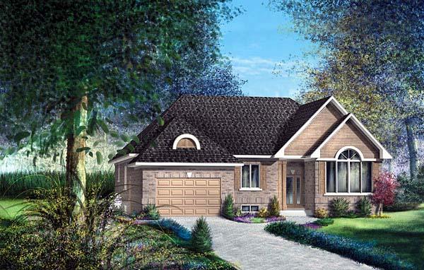 European House Plan 49566 Elevation