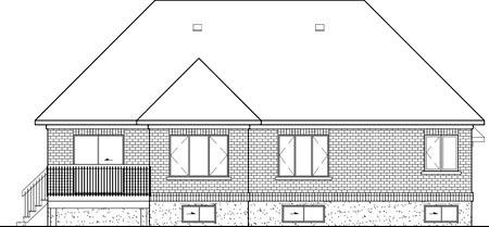 European House Plan 49566 Rear Elevation