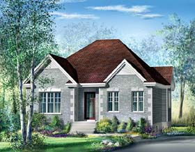 European House Plan 49567 Elevation