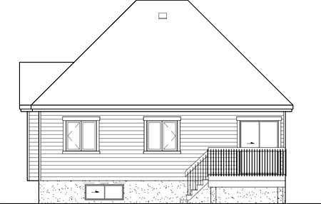 European House Plan 49567 Rear Elevation