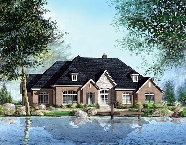 European House Plan 49568 Elevation