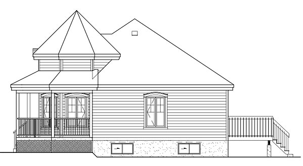 Victorian House Plan 49571 with 2 Beds, 1 Baths Picture 2