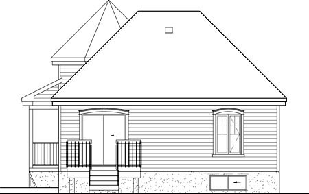 Victorian House Plan 49571 Rear Elevation