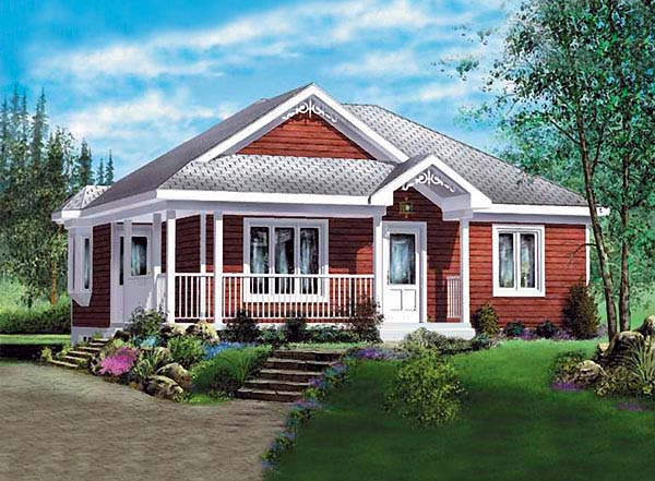House Plan 49573 Elevation