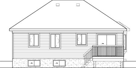 House Plan 49573 Rear Elevation