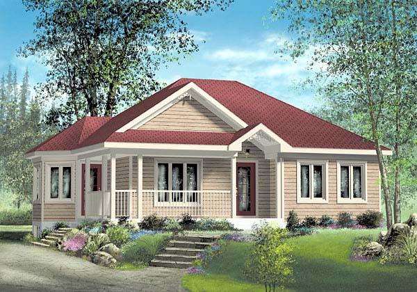 House Plan 49574 Elevation