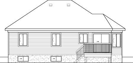 House Plan 49574 Rear Elevation
