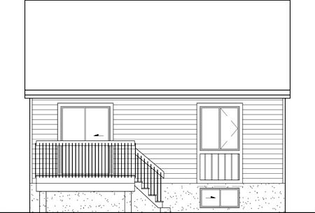 House Plan 49575 Rear Elevation